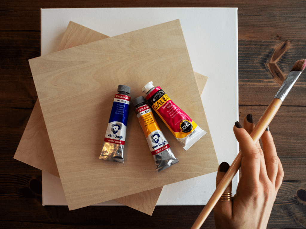 best surfaces for acrylic painting