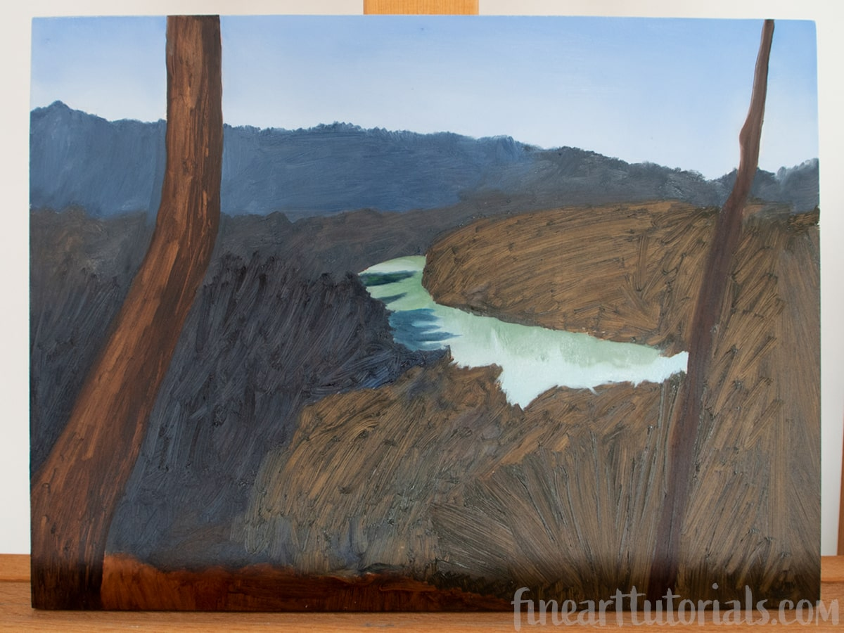 The Blocking In Technique for Oil and Acrylic Painting