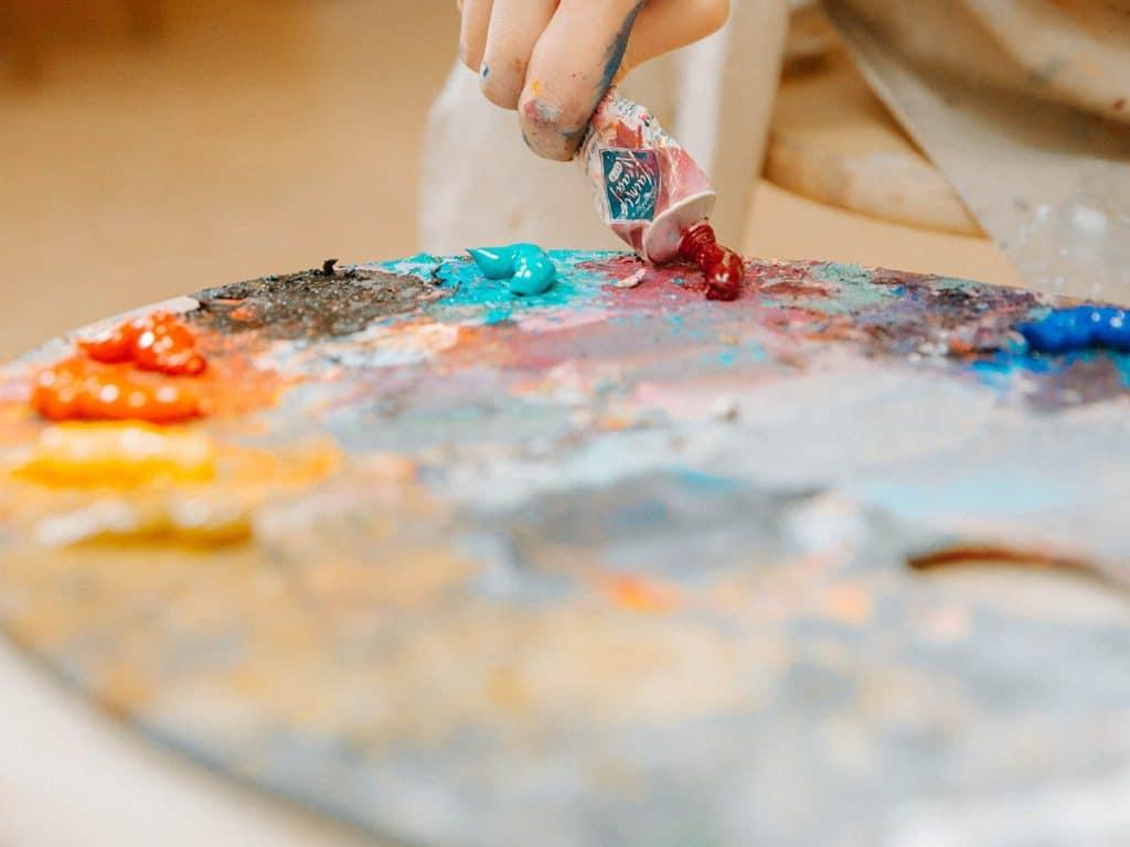 choose a colour palette oil painting tutorials