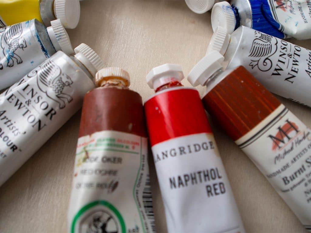 oil painting tutorials: supplies