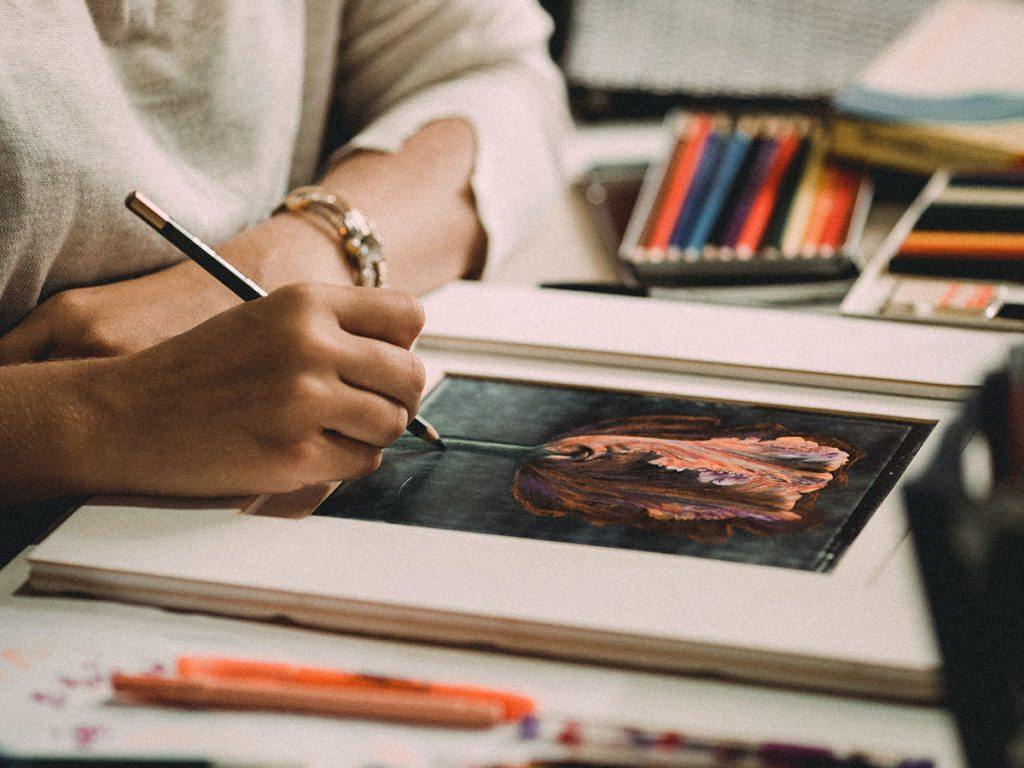 How to draw with coloured pencils: techniques