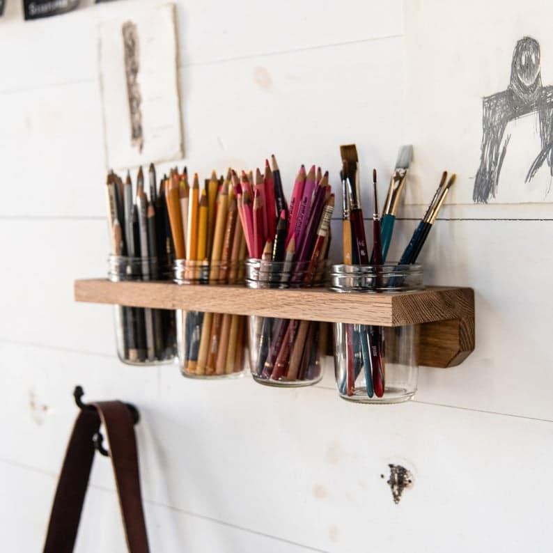 paint brush storage: wall caddy