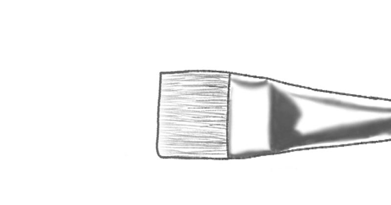 best acrylic paint brushes: bright