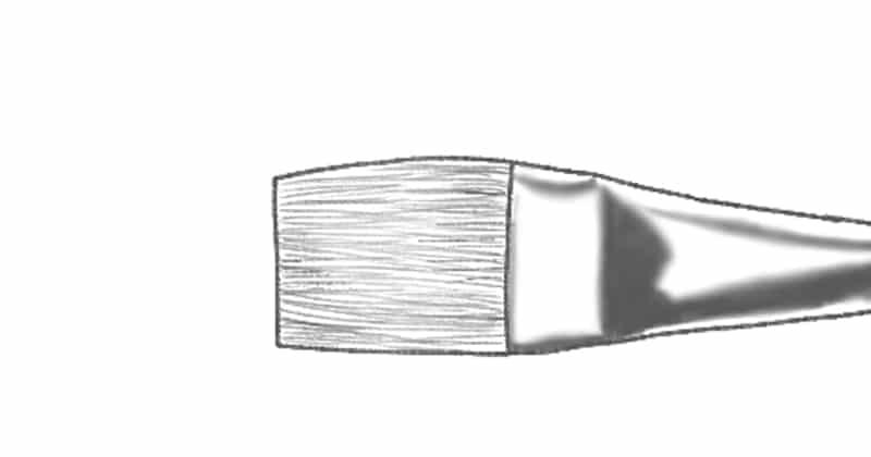 best brushes for acrylic painting: flat brush