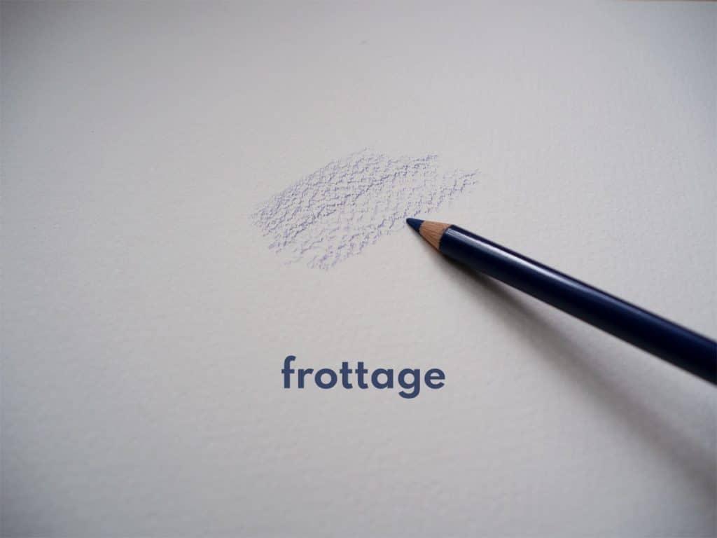 frottage pencil techniques
