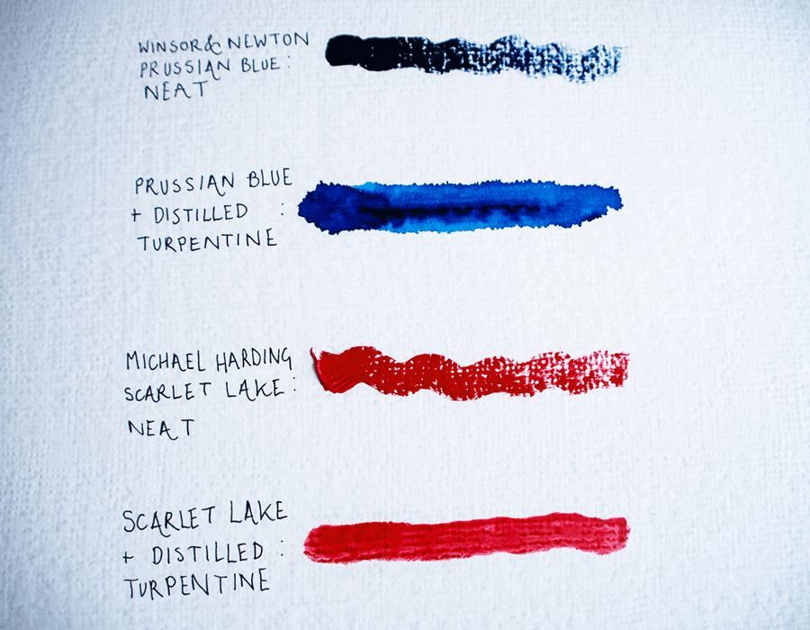 oil paint mediums: solvent