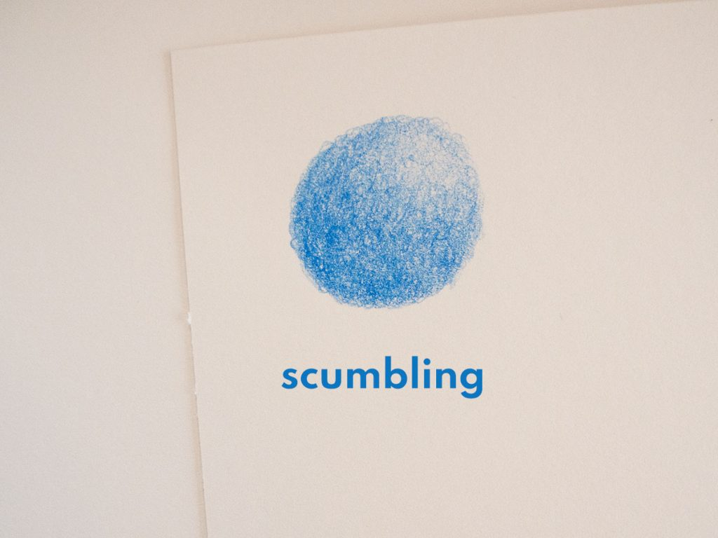 scumbling drawing technique