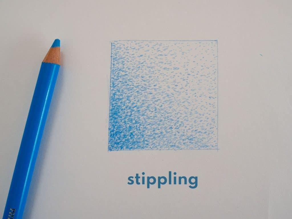 stippling coloured pencil techniques