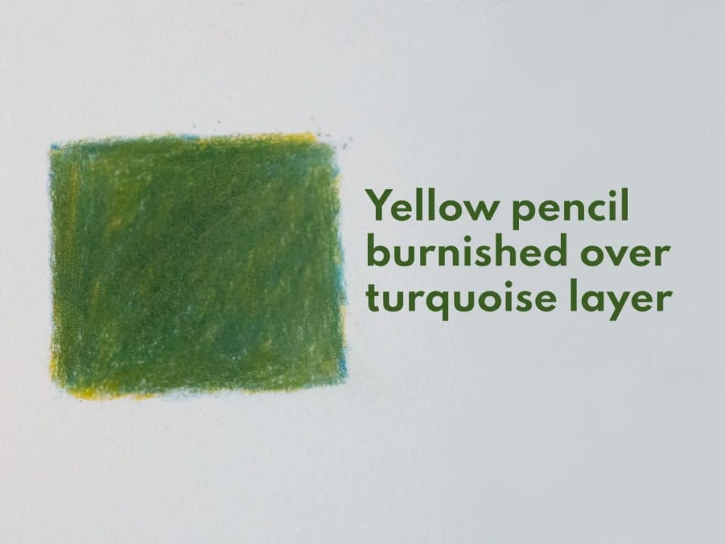 how to blend coloured pencils burnish