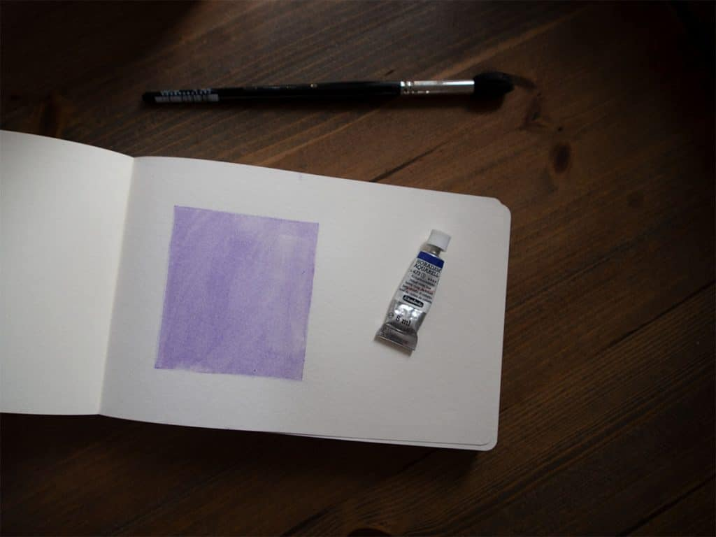 flat wash watercolour for beginners