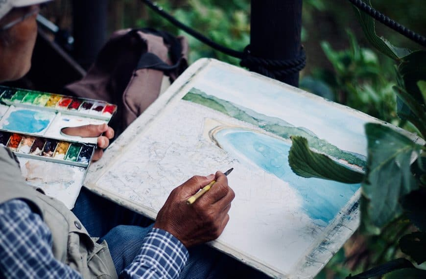 Plein Air Watercolour Painting: 5 Tips for Painting Outdoors