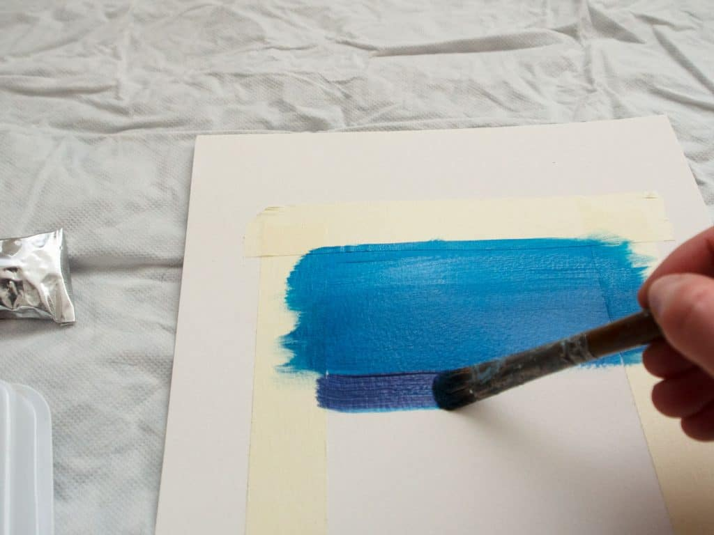 How to blend acrylic paint: blend colours