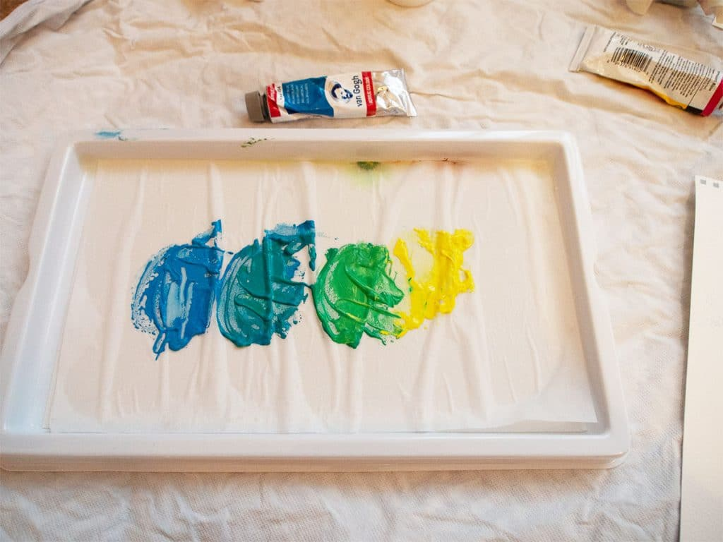 How to blend acrylic paint: glazing