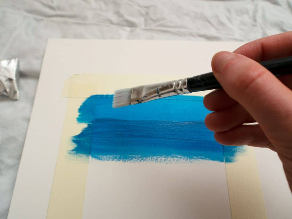 How to blend acrylic paint: two shades