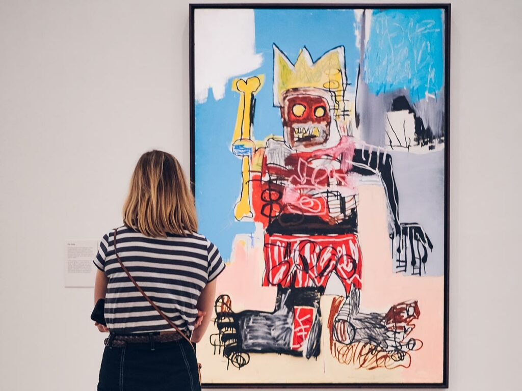 how to start an art collection: look in galleries