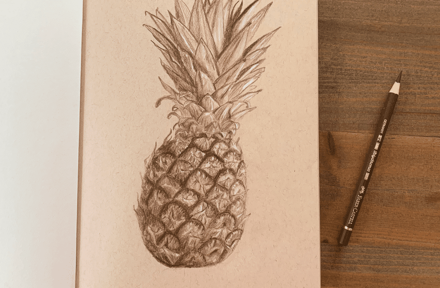 How to Draw a Pineapple in 5 Steps