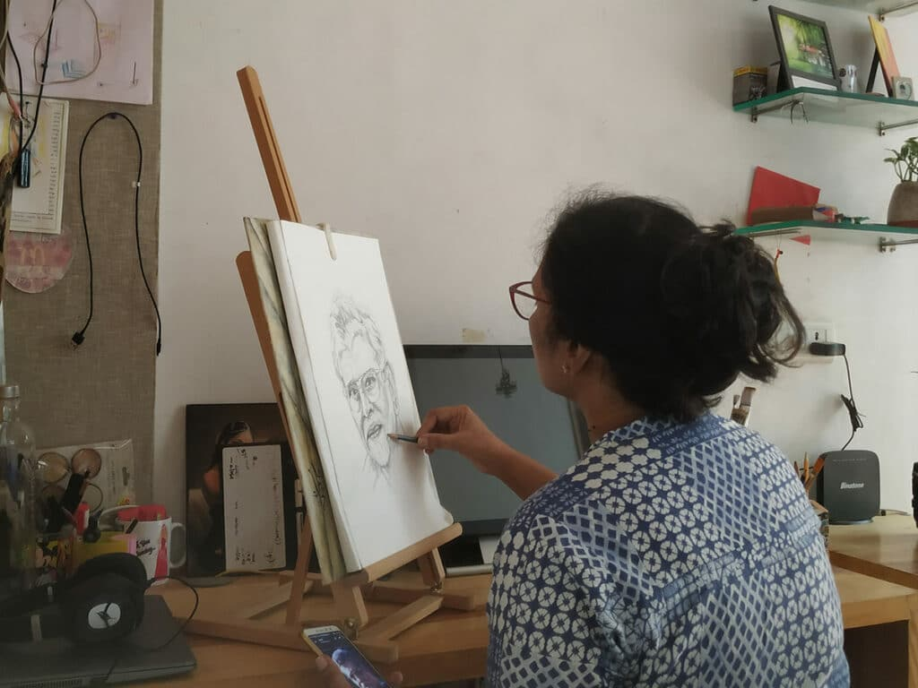 start an oil painting with a drawing