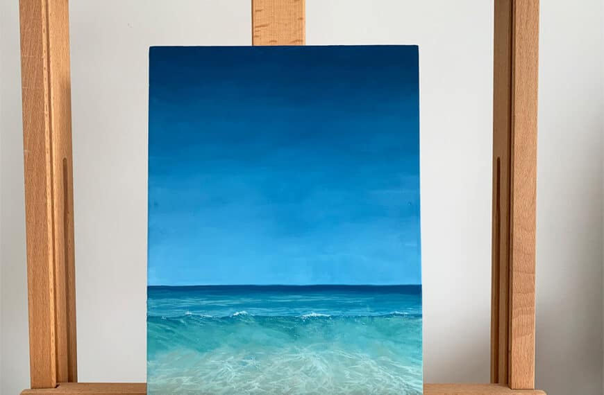How to Paint a Tropical Ocean Wave with Oil Paints: Step by Step
